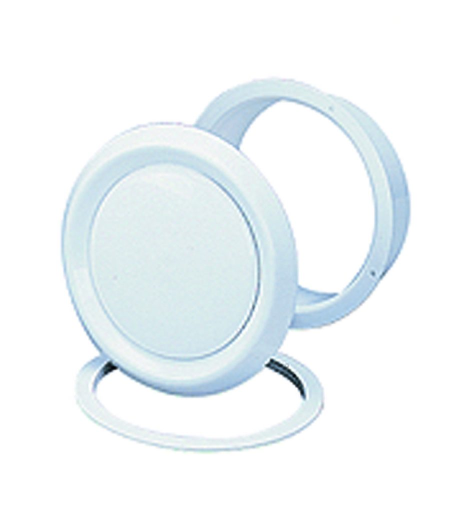 Ducted heating vent round white